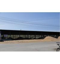内蒙古小麦庞大的晾晒场地