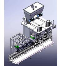 CF25-S2双工位面粉半自动包装机